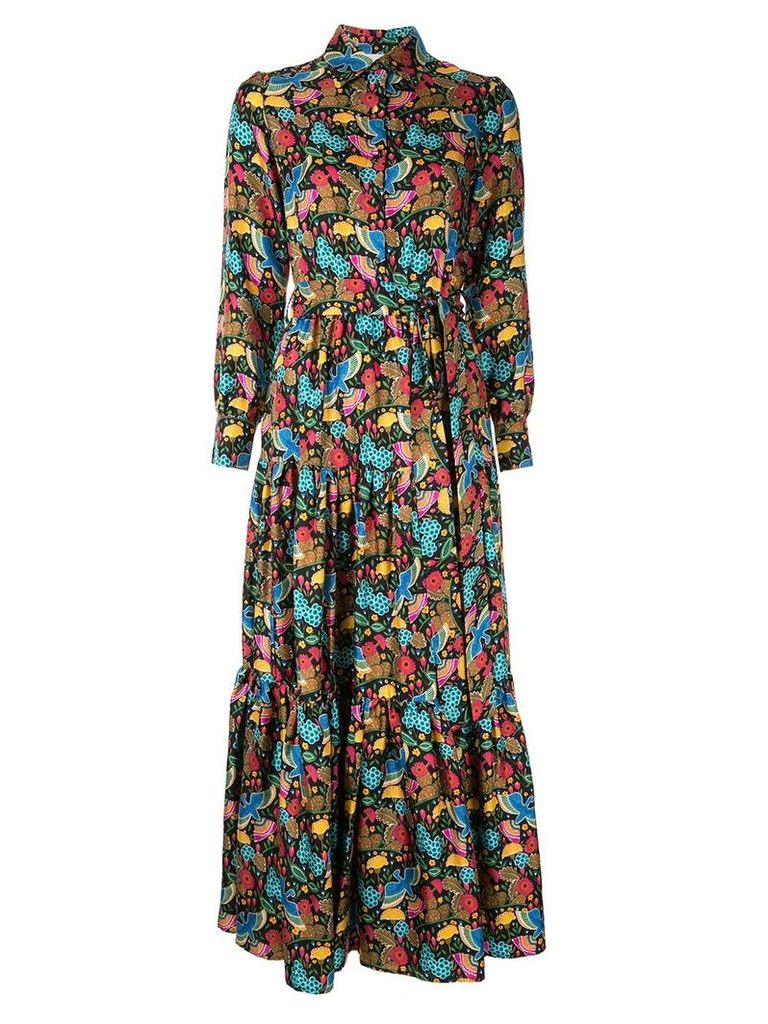 La Doublej dragon flower print shirt dress - Multicolour