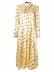 Stine Goya dotted midi dress - Yellow