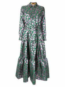 La Doublej tiered jacquard shirt dress - Green