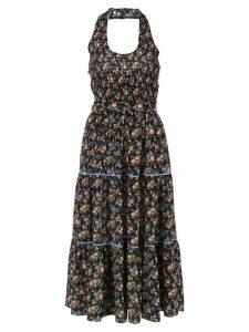Les Reveries Liberty Yorkshire print halter dress - Black