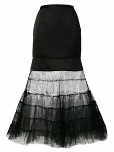 Christopher Kane satin multi tulle skirt - Black