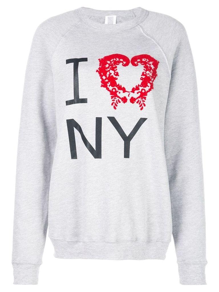 Rosie Assoulin I Love NY jumper - Grey
