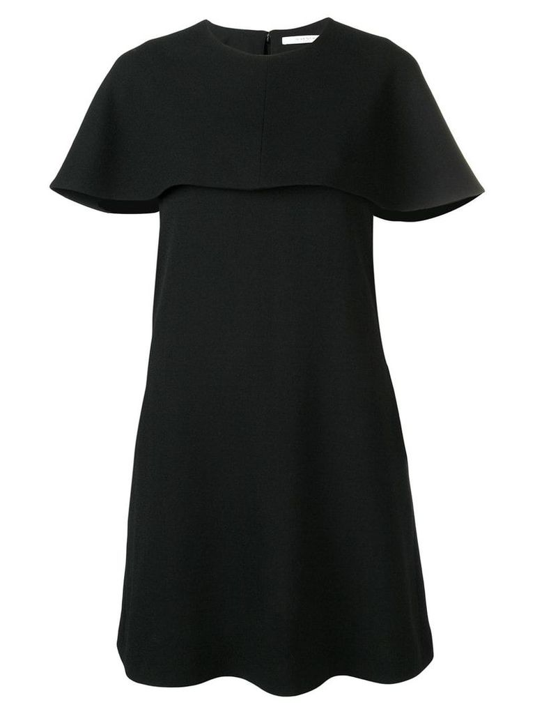 Givenchy short sleeve cape dress - Black