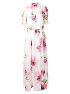 Blugirl floral print turtleneck maxi dress - White