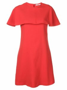 Givenchy short sleeve cape dress - Red
