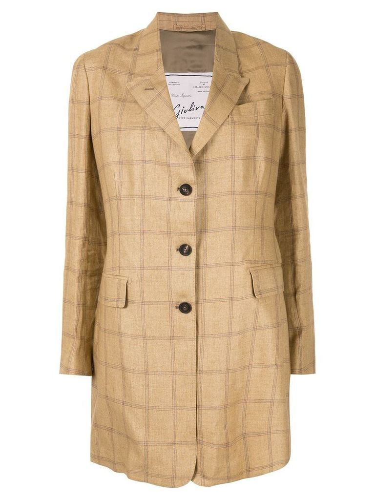 Giuliva Heritage Collection The Karen check blazer - Brown