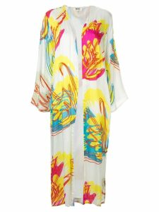 All Things Mochi abstract floral print kimono - White