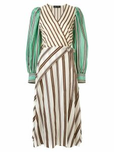 Anna October striped wrap dress - Multicolour