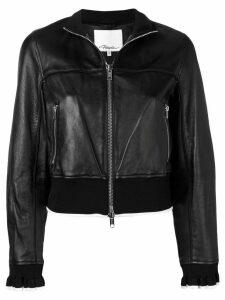 3.1 Phillip Lim cropped leather jacket - Black