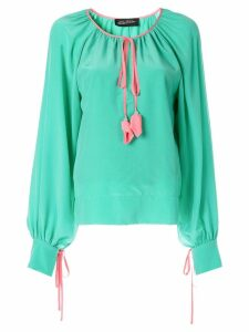 Anna October tassel detailed blouse - Green