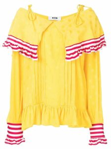 MSGM contrast panel blouse - Yellow