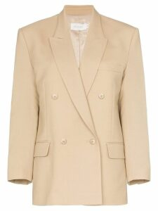 Low Classic double-breasted wool blazer - Neutrals