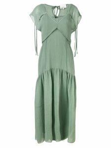 3.1 Phillip Lim Cutout Textured Silk Dress - Blue