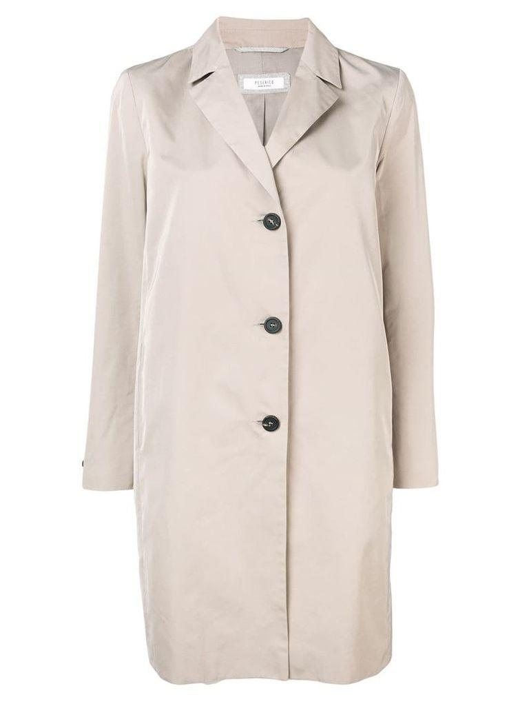 Peserico single breasted coat - Neutrals