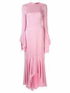 Solace London ruffled hem dress - Pink