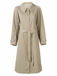 Maison Flaneur belted trench coat - Green