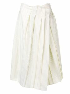 Maison Flaneur pleated white skirt - Yellow