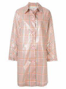 Mansur Gavriel Elegant laminated coat - Pink
