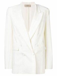Maison Flaneur white oversized blazer