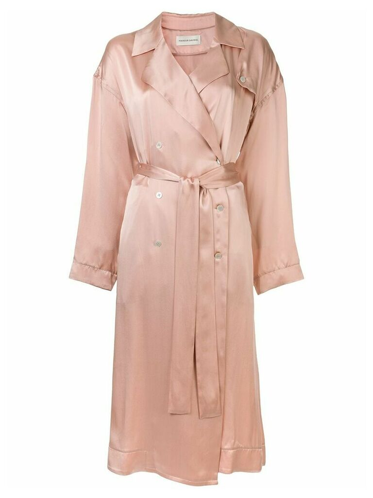 Mansur Gavriel charmeuse flowy trench - Pink