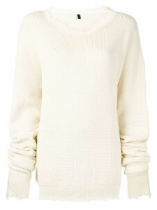 Unravel Project distressed cotton sweater - Neutrals