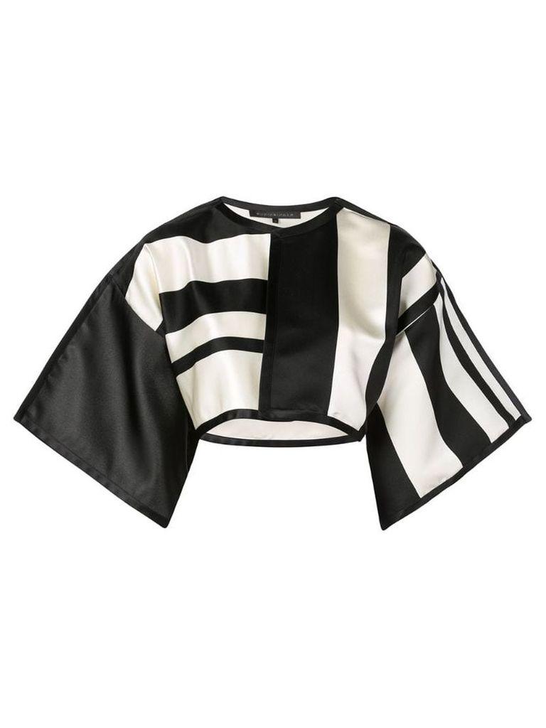 Rubin Singer cropped stripe jacket - Black