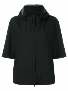 Herno shortsleeved hooded jacket - Black