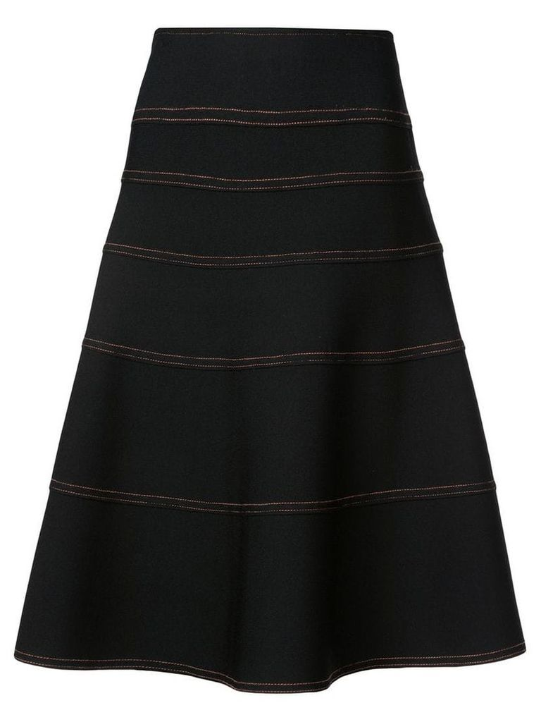 Proenza Schouler Topstitch Mid Skirt - Black