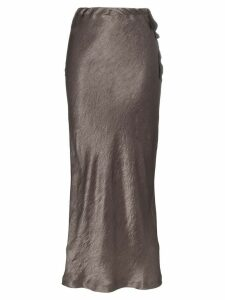 Ann Demeulemeester high-waisted silk midi skirt - Green