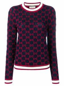 Gucci GG jacquard logo sweater - Blue