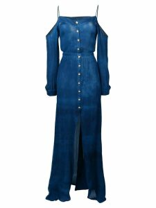 Balmain button-down maxi dress - Blue