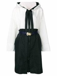 Dorothee Schumacher colour block rain coat - Black
