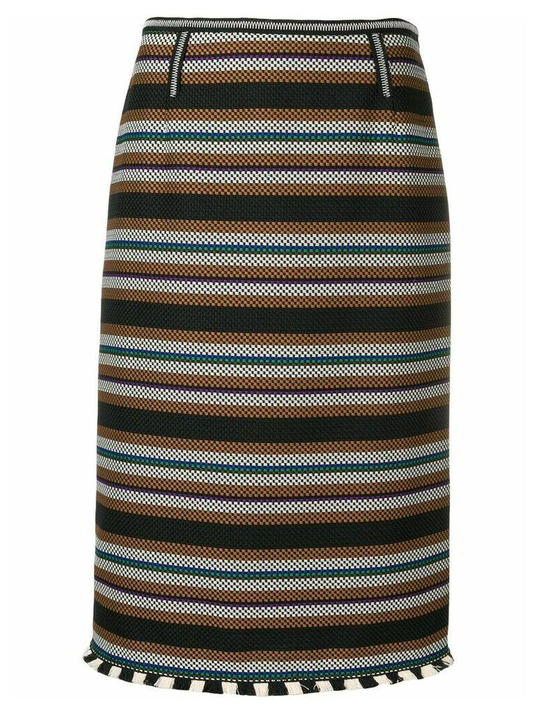 Dorothee Schumacher striped pencil skirt - Black