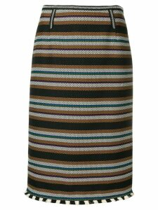 Dorothee Schumacher striped pencil skirt - Black