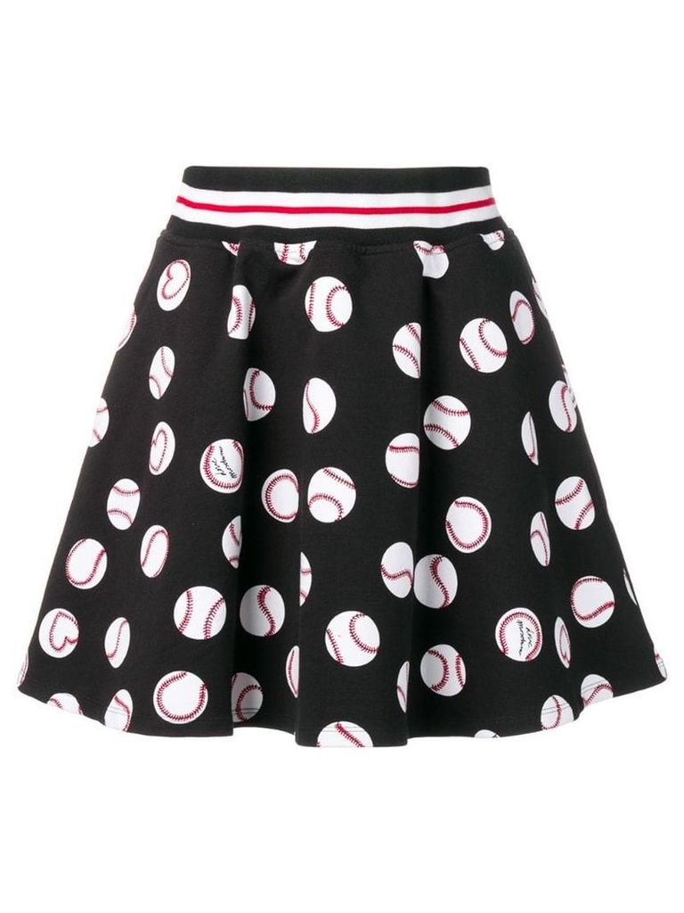 Love Moschino black printed skirt