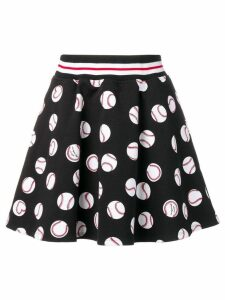 Love Moschino black printed skirt