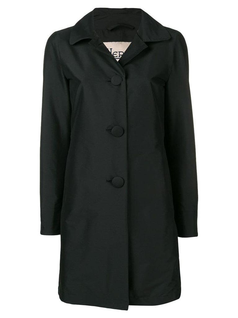 Herno peter pan collar trench coat - Black