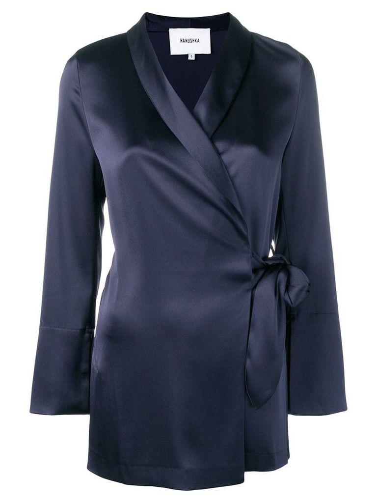Nanushka wrap jacket - Blue