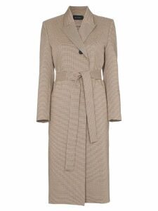 Low Classic belted heritage check coat - Neutrals