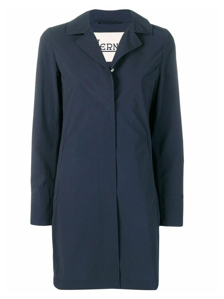 Herno classic lapel raincoat - Blue