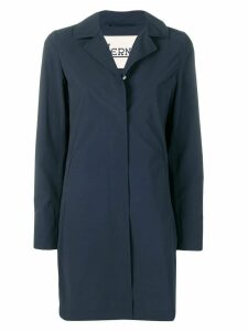 Herno classic lapel raincoat - Blue