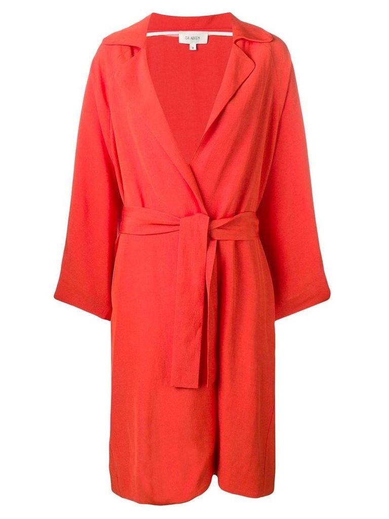 Isa Arfen belted lighweight coat - Orange