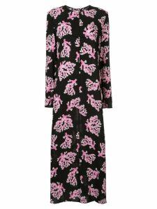 Marni branch print maxi dress - Black