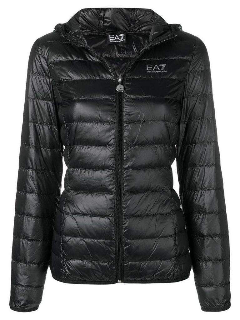 Ea7 Emporio Armani hooded puffer jacket - Black