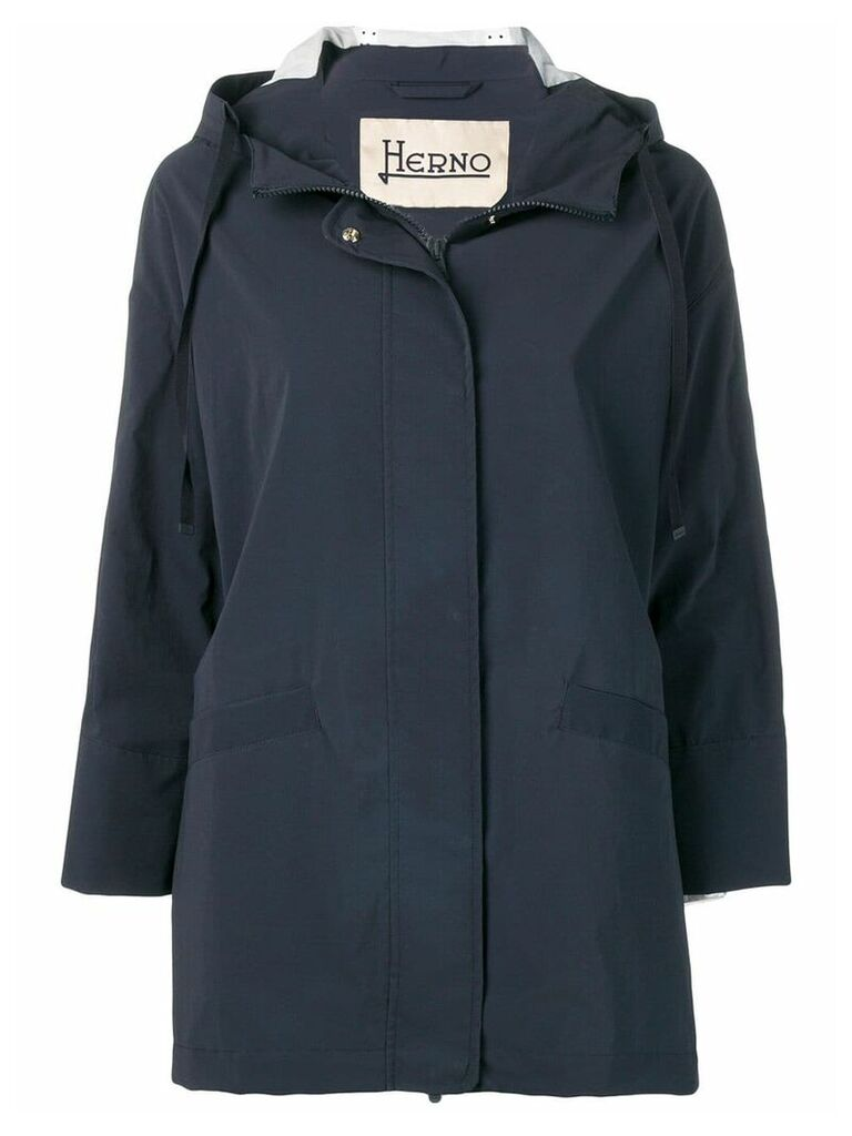 Herno zip-up hooded raincoat - Blue