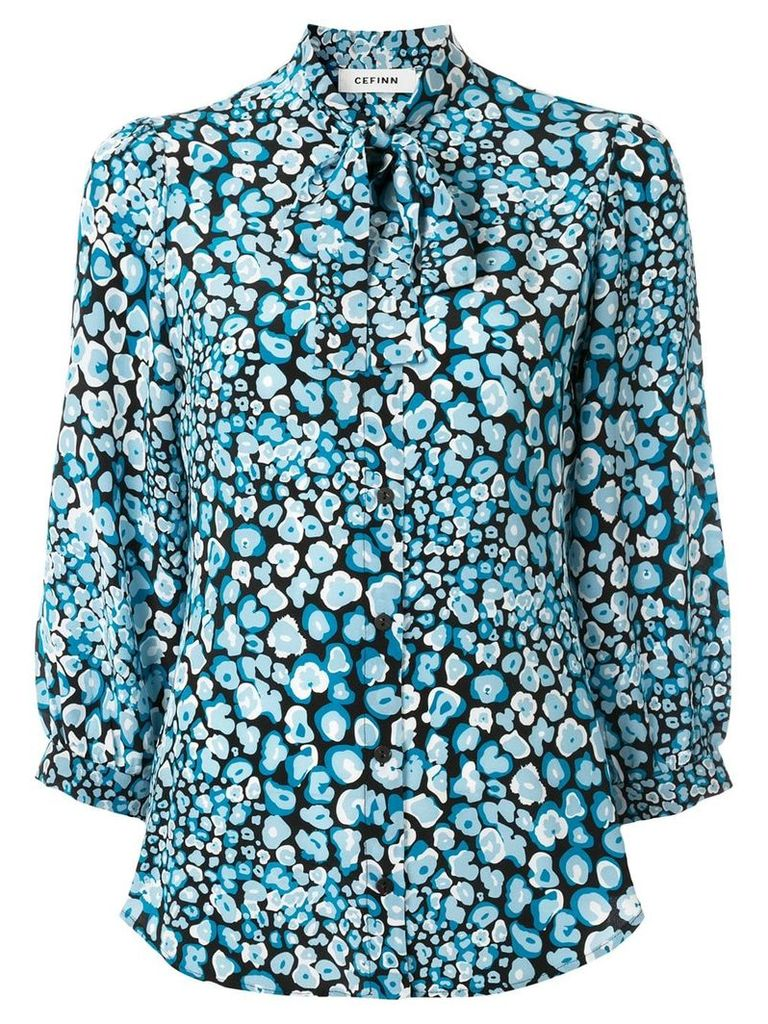 Cefinn printed pussybow blouse - Blue