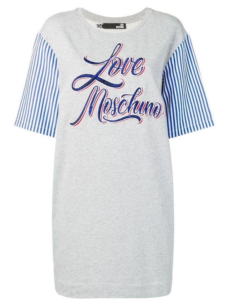 Love Moschino logo T-shirt dress - Grey