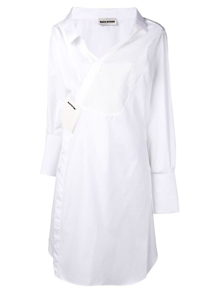 Each X Other deconstructed tailoring shirt dress - White