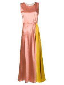 L'Autre Chose contrast panel dress - Pink