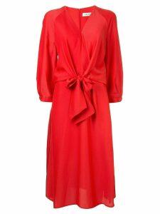 Cefinn tie front midi dress - Red